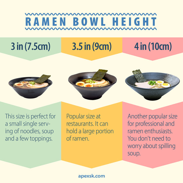 ramen bowl height