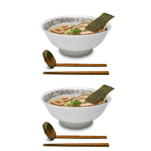 "Brush Stroke Ceramic 8.2"" Japanese Ramen Bowls"