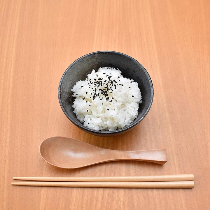Ceramic Donburi Rice Bowl with Sesame Seeds