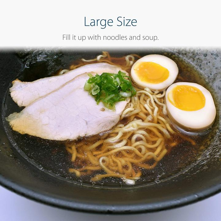 Large Ceramic Bowl with Ramen Chashu and Ramen Egg