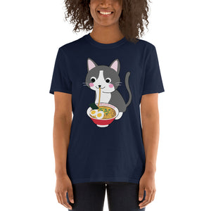 Unisex Ramenologist Cat Eating Ramen T-Shirt