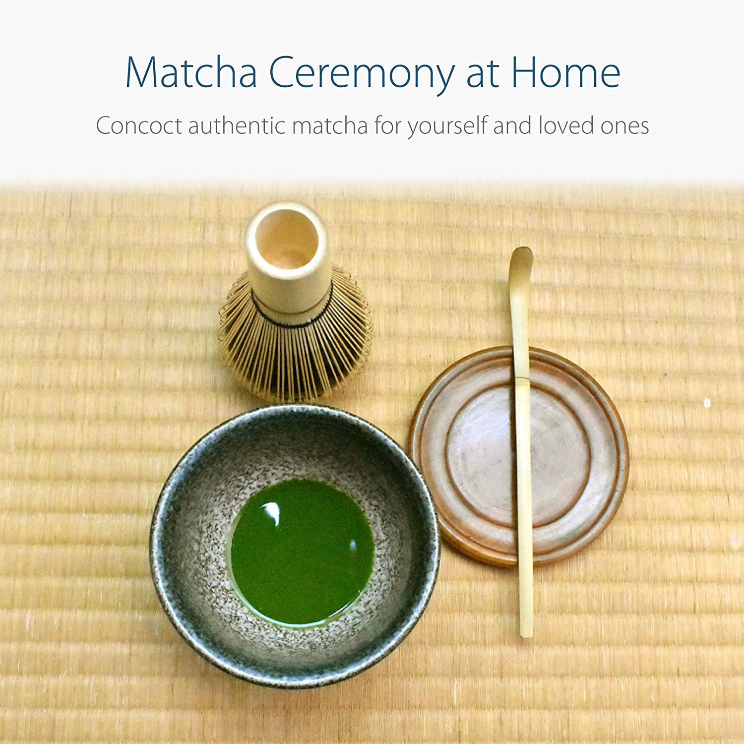 Ceramic Japanese 5-Piece Matcha Bowl Tool Kit