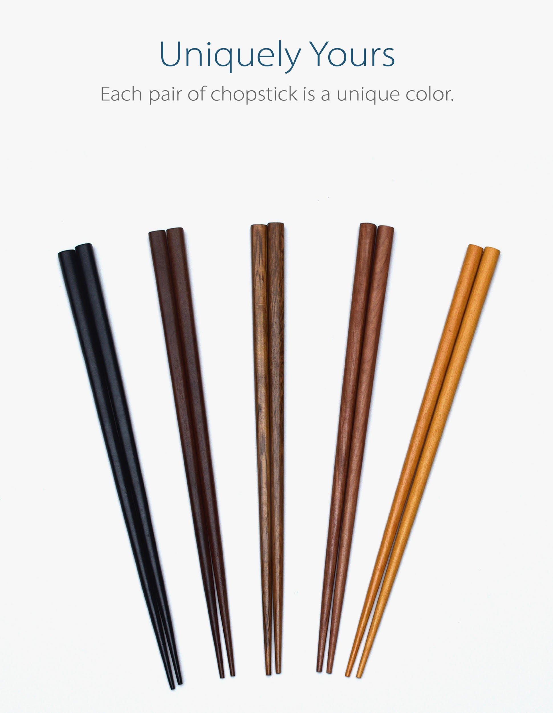 Chopsticks 5-Pair Set (Wood)