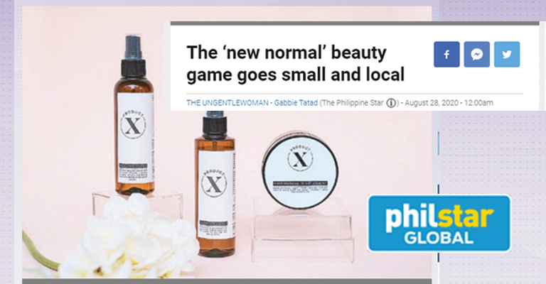 The 'new normal' beauty game goes small and local - PhilStar Global YStyle