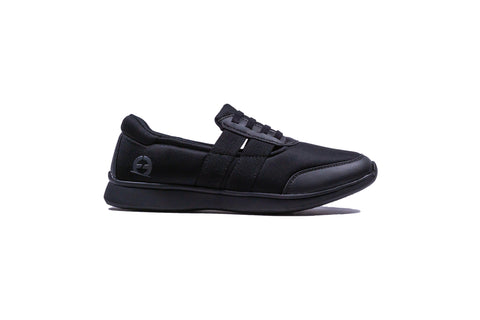 Womens R4 Comfort - Black Laced Slip On