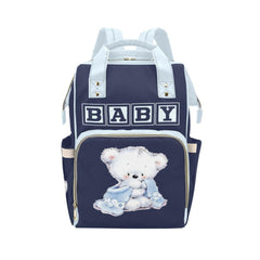 Designer Diaper Bags - Backpack Baby Bag Chocko Blocks Baby Boy Teddy Bear Multi-Function Backpack