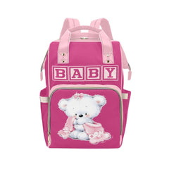 Designer Diaper Bags - Backpack Baby Bag Chocko Blocks Baby Girl Teddy Bear Multi-Function Backpack