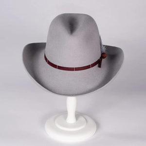 Light Grey Cowboy Hat | Susan Carrolan Millinery