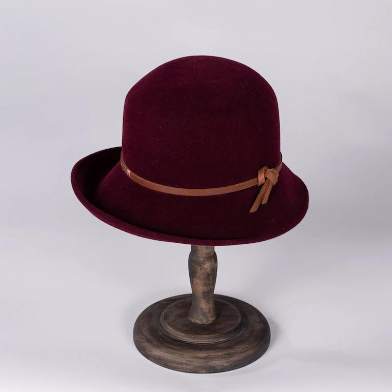 Bucket Cloche Felt Hat - Susan Carrolan Millinery