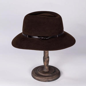 Emerson Brown Felt Fedora | Susan Carrolan Millinery