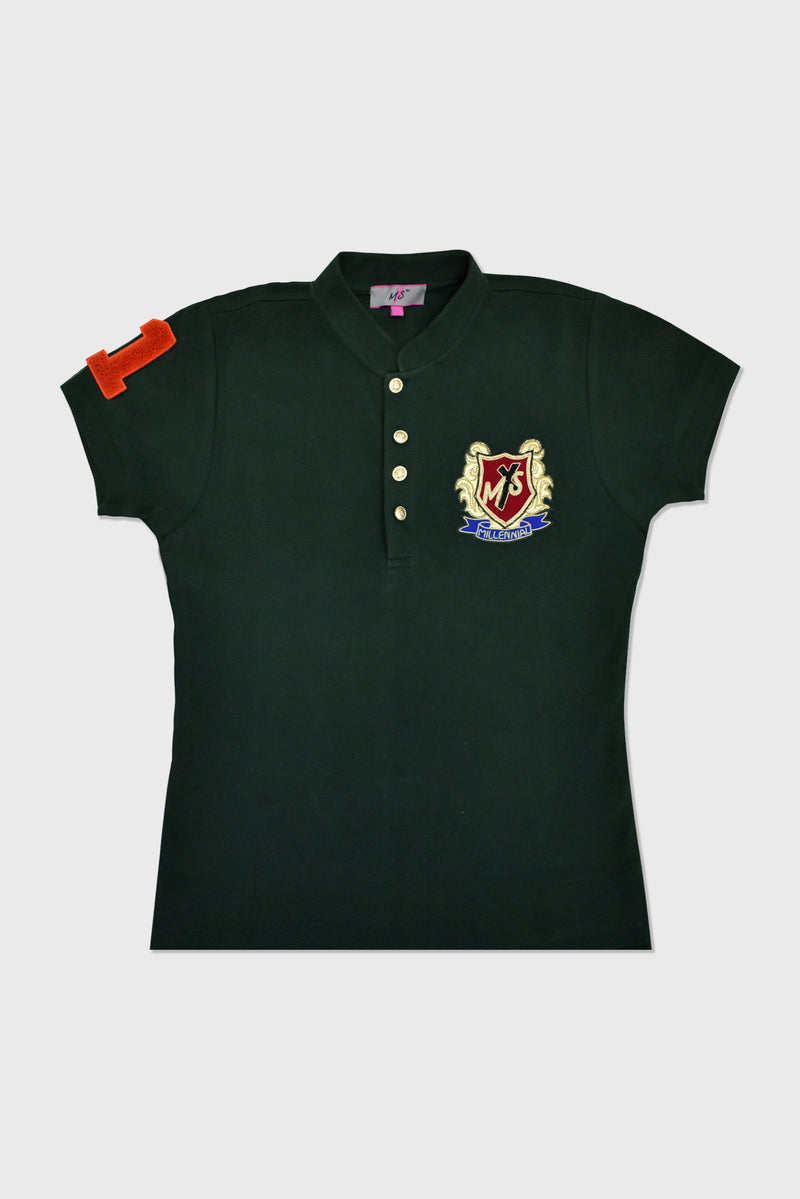 T-SHIRT WITH OXFORD CREST MOTIF