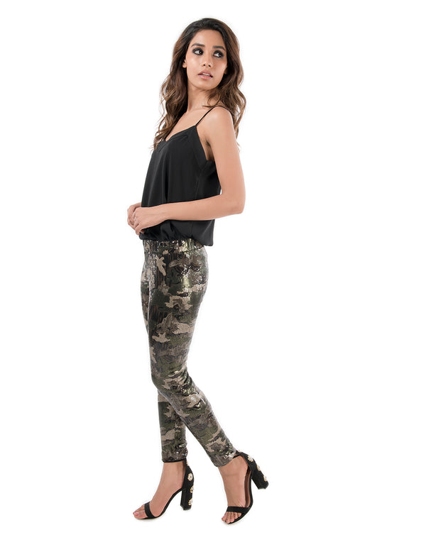Camo Sequins Leggings