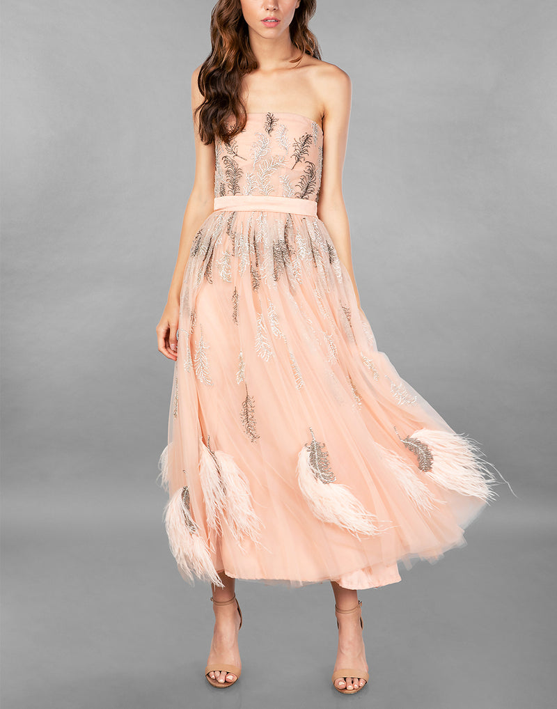 CRYSTAL FEATHER DRESS