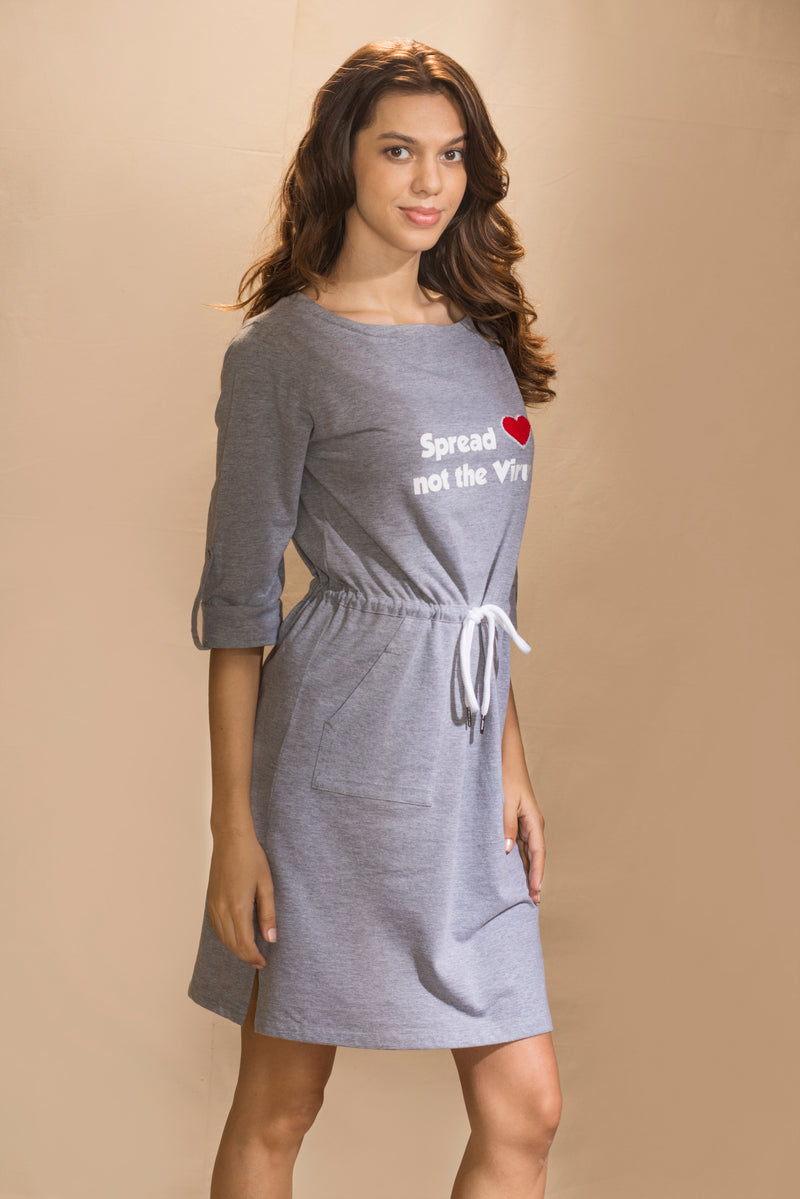 SPREAD LOVE T-SHIRT DRESS