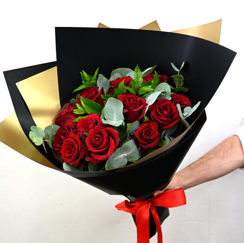 Bold & Romantic - Red Roses (12) - Adam The Flower Man