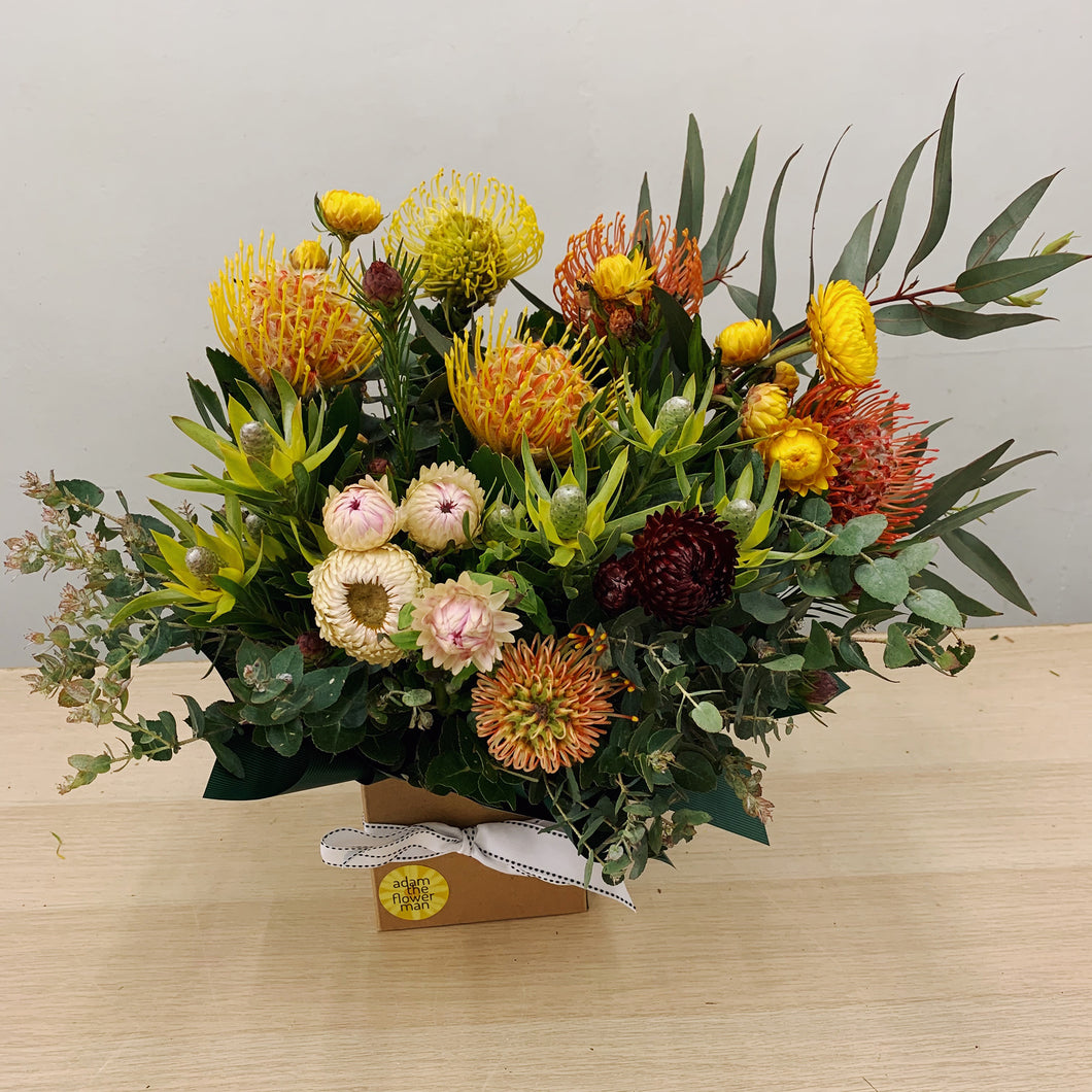 Proteas and Natives Box Flowers - Adam The Flower Man