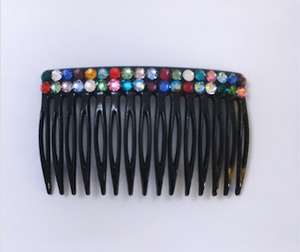 handmade in Toronto, shop local Toronto, Swarovski Crystals, Comb, hair comb, cool girl hair