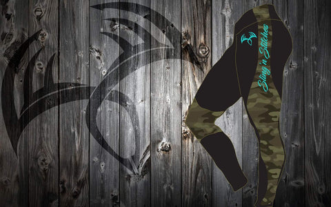 Army camo/Teal leggings