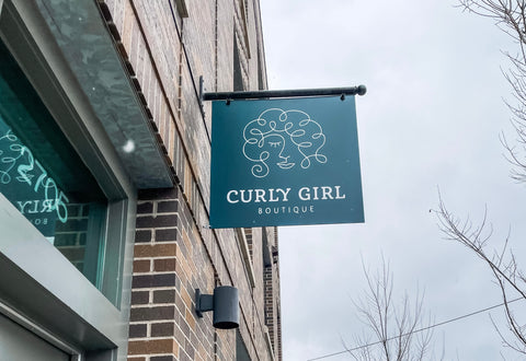 Curly Girl Boutique Store Sign