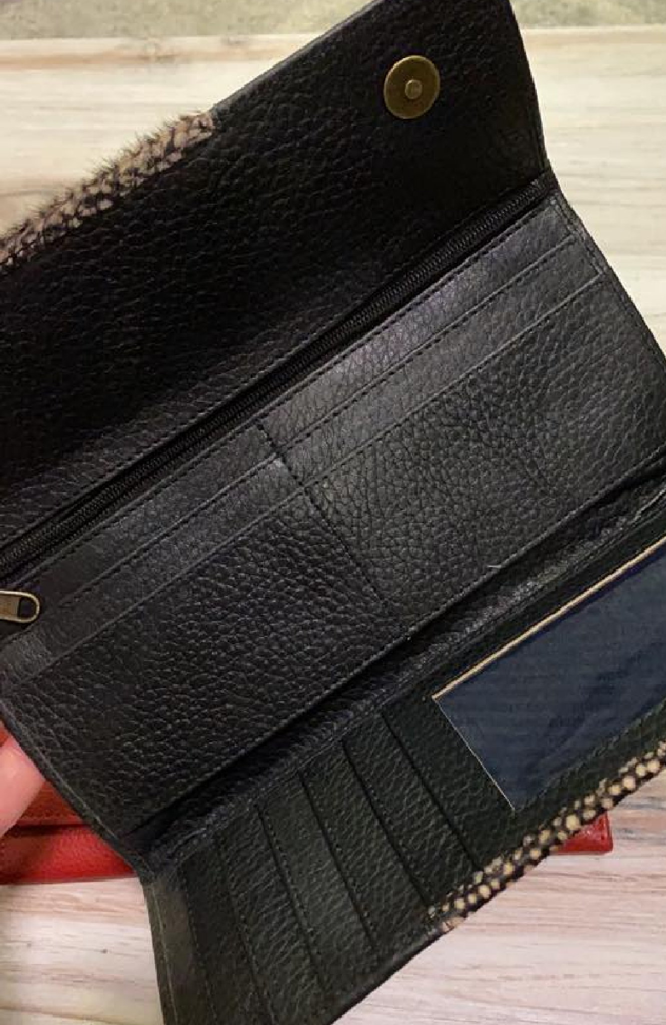 Annika Genuine Leather TriFold Wallet