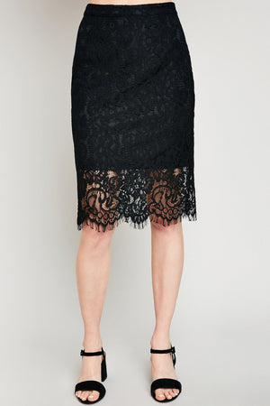 Lovely in Lace Pencil Skirt