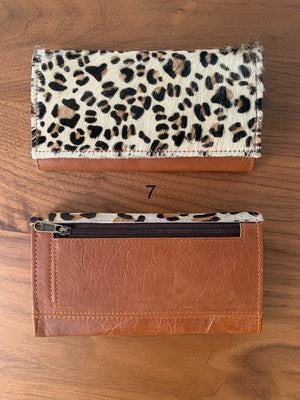Valerie Genuine Leather & Hide Fold Over Wallet