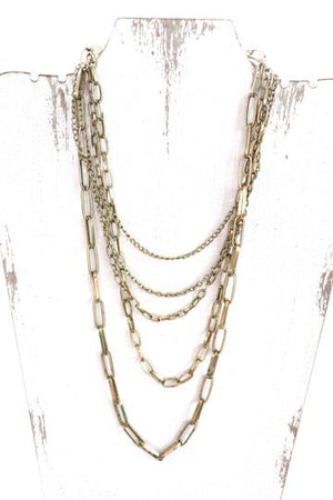 Into the Groove Gold Layered Chain Necklace