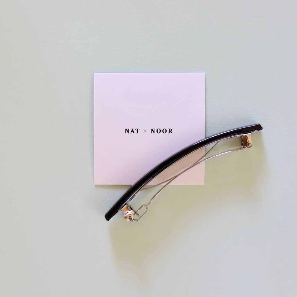 Lily French Barrette in Navy by NAT + NOOR