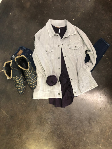 Grey Corduroy Jacket