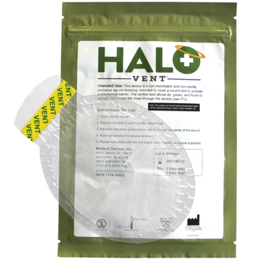 Halo Vent Chest Seals