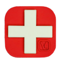 "Load image into Gallery viewer, Medical Cross - ""Super-Lumen"" Glow-In-The-Dark Patch Red Vanquest  medical-gear-outfitters.myshopify.com Medical Gear Outfitters"
