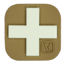 "Load image into Gallery viewer, Medical Cross - ""Super-Lumen"" Glow-In-The-Dark Patch Tan Vanquest  medical-gear-outfitters.myshopify.com Medical Gear Outfitters"