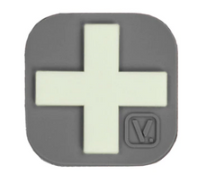 "Load image into Gallery viewer, Medical Cross - ""Super-Lumen"" Glow-In-The-Dark Patch Wolf Gray Vanquest  medical-gear-outfitters.myshopify.com Medical Gear Outfitters"