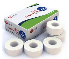 "Cloth Surgical Tape Rolls 1""x10 yards White  Dynarex  medical-gear-outfitters.myshopify.com Medical Gear Outfitters"