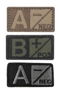 Cloth Blood Type Patch  Condor  medical-gear-outfitters.myshopify.com Medical Gear Outfitters
