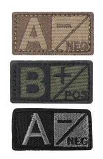 Cloth Blood Type Patch
