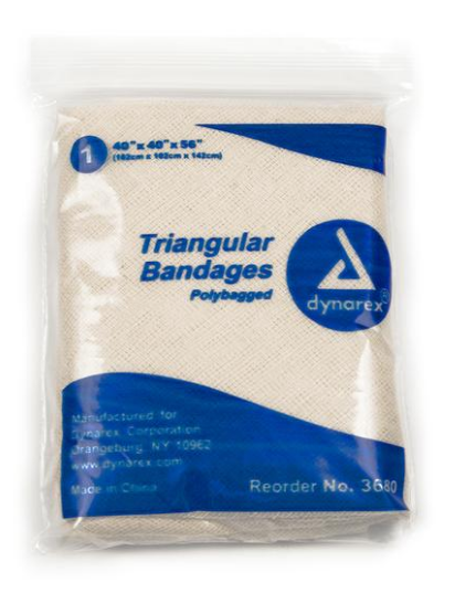Triangle Bandage with two Pins  (Qty. 2)