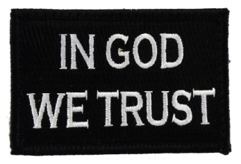 In God We Trust Patch Black and White Medical Gear Outfitters  medical-gear-outfitters.myshopify.com Medical Gear Outfitters