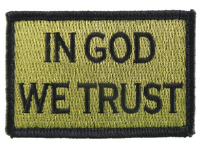 In God We Trust Patch Green and Black Medical Gear Outfitters  medical-gear-outfitters.myshopify.com Medical Gear Outfitters