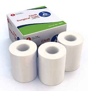 "Cloth Surgical Tape Rolls 3"" x 10 yards White  Dynarex  medical-gear-outfitters.myshopify.com Medical Gear Outfitters"