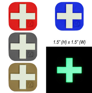 "Medical Cross - ""Super-Lumen"" Glow-In-The-Dark Patch 1.5 "" x 1.5 "" Large"
