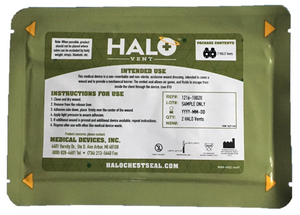 "HALO Vented Seal IFAK Two Pack, Package 7"" x 5"""