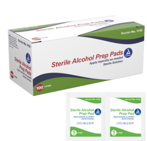 Alcohol Prep Pad Sterile Large 100 count