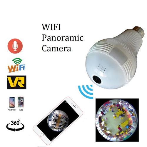 Bulb WIFI Camera 960p Panoramic 360 Degree Camera