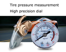 Multi-function 4 in 1 portable tire gauge Car Vacuum Cleaner