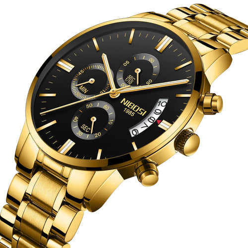 Luxury Waterproof Chronograph Military Watch Stainless Steel