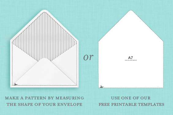Free Envelope Liners and Templates | Blush & Gray