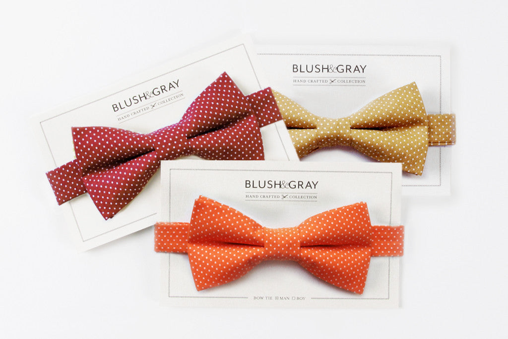 Swiss Dot Bow Ties