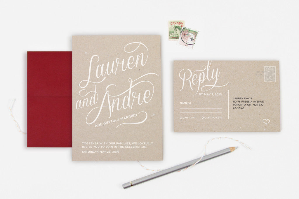 Craft Invitation Set