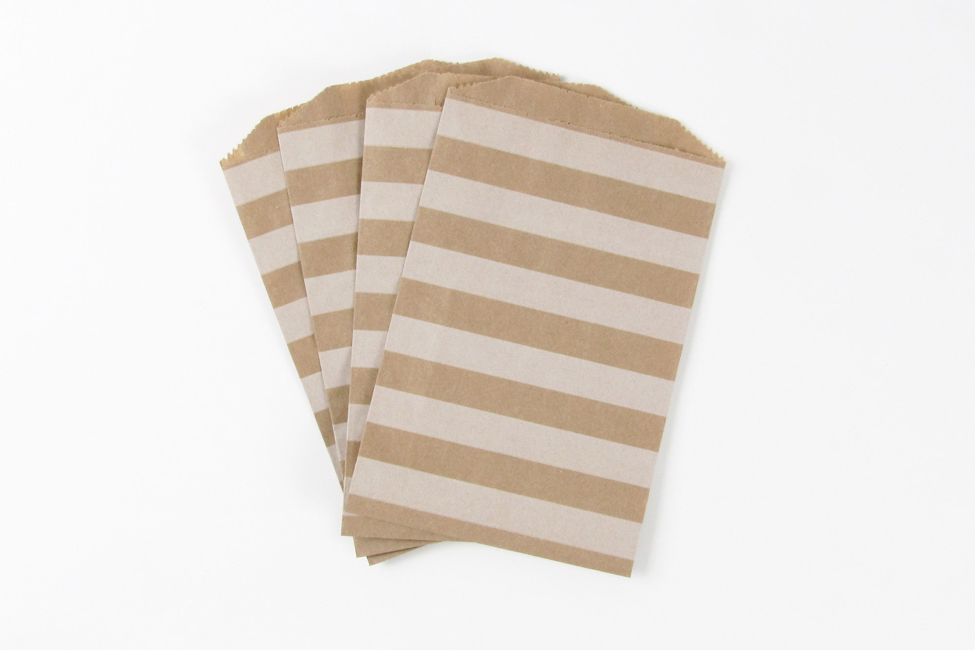 Brown Stripe Favour Bags